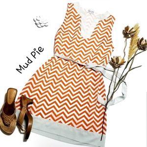 🐯Clemson Tigers❣Dress Orange White Chevron L
